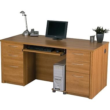 Bestar Embassy Executive Desk Kit, Cappuccino Cherry