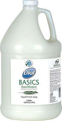 Dial Basics Moisturizing Hypoallergenic Liquid Hand Soap, Fresh Floral, Refill, 1 Gallon ( DIA06047EA )