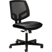 HON Volt Leather Computer and Desk Office Chair, Armless, Black (5711SB11T.COM) NEXT2017