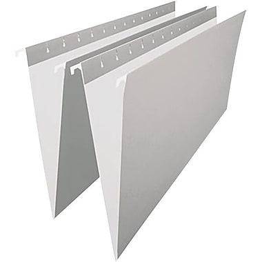 Staples® – Chemises suspendues de couleur, format légal, 8 1/2 po x 14 po, grises