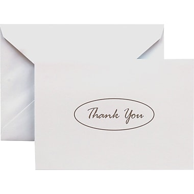 Gartner Studios – cartes de remerciement « Thank You », 5 po x 3 1/2 po