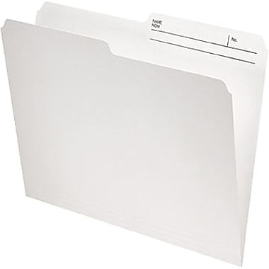 Staples® Recycled File Folder, 1/2-Cut, Legal Size, 10-1/2 pt., Ivory