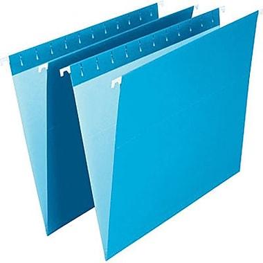 Staples® – Chemises suspendues de couleur, format lettre, 8 1/2 po x 11 po, bleues