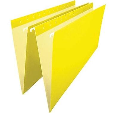 Staples® – Chemises suspendues de couleur, format légal, 8 1/2 po x 14 po, jaunes