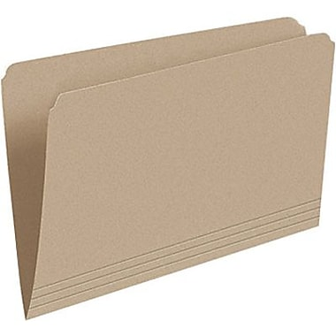Staples® Recycled File Folder, Straight-Cut, Legal Size, 10-1/2 pt., Natural Sand