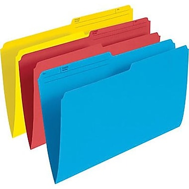Staples Coloured File Folders, Legal Size 8-1/2