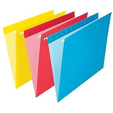 Staples® – Chemises suspendues de couleur, format lettre, 8 1/2 po x 11 po, couleurs variées
