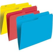 "Staples® File Folders, Letter Size 8-1/2"" x 11"", Assorted Colours"