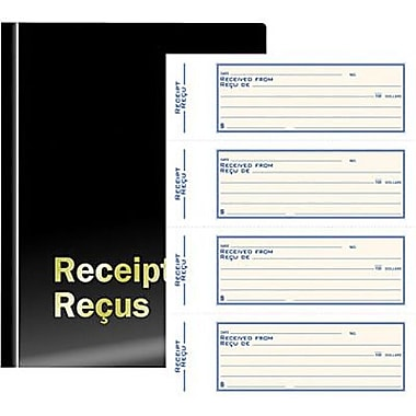 Staples® Deluxe Receipt Book, Triplicate, Biingual