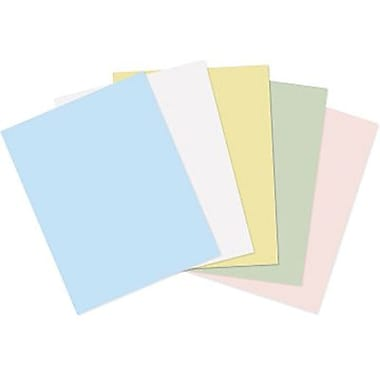 Staples Pastel Coloured Cover Stock, 8-1/2