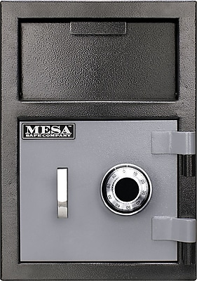 Mesa™ Depository Safe Combination Lock, 0.8 Cubic Ft., 88 lb, Black, Interior: 10.5