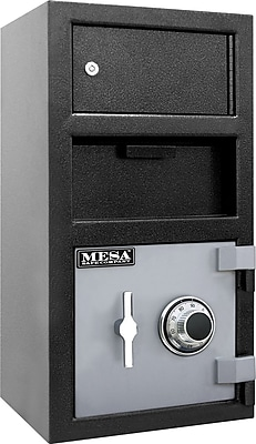 Mesa™ Depository Safe w/ Outer Locker and Combination Lock, 1.5 Cubic Ft., 104 lb, Exterior: 7.25