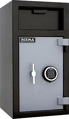 Mesa™ Depository Safe with Electronic Lock, 1.4 Cu. Ft., 114 lb, Black, Interior: 16 1/8