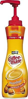 Nestlé® Coffee-mate® Coffee Creamer, Hazelnut, 21.1oz liquid pump bottle, 1 bottle