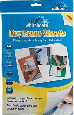 Magic Whiteboard Magic Whiteboard Sheets, White