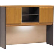 "Bush Cubix 48"" Hutch, Natural Cherry and Slate Gray"