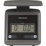 Brecknell Electronic Postal Scale, Gray, 7lb (PS7 - GRAY)