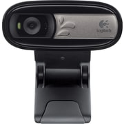 Logitech C170 Computer Webcam with Microphone, 640 x 480 dpi, Black (960-000880)