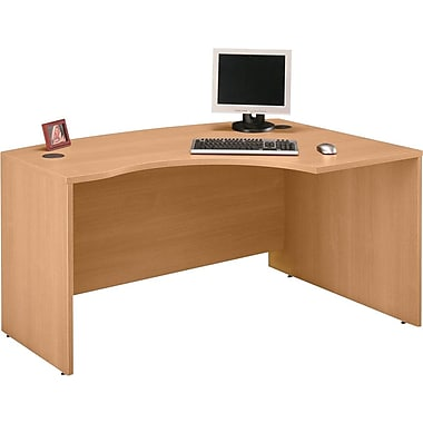 Bush Westfield Right L Bow Desk- Danish Oak