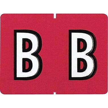 Oxford Étiquettes alphabétiques compatibles Datafile, « B », rouge