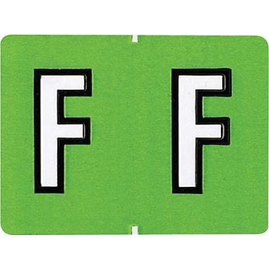 Oxford® – Étiquettes alphabétiques compatibles Datafile®, « F », vert cl