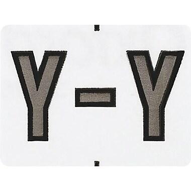 Oxford® – Étiquettes alphabétiques compatibles Datafile®, « Y », blanc/g