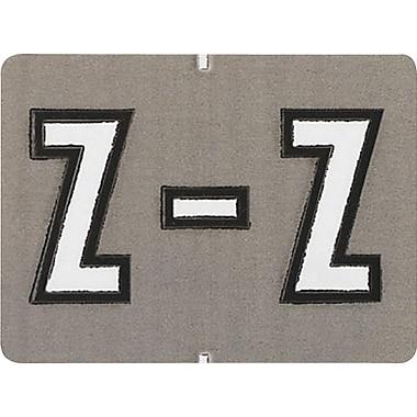Oxford® – Étiquettes alphabétiques compatibles Datafile®, « Z », gris/bl