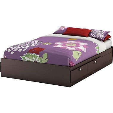 South Shore Cakao Collection Double Mates Bed, Chocolate