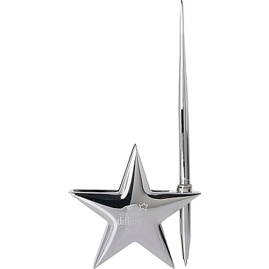 You Make the Difference Stand Up Silver Star Business Card Holder and Pen