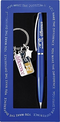 You Make the Difference Pen and Key Chain Gift Set