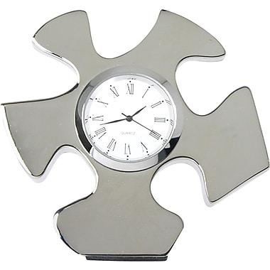 Essential Piece Silver Puzzle Piece Desktop Clock