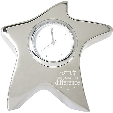 You Make the Difference Silver Star Desktop Clock