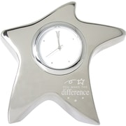 "Baudville® ""You Make the Difference"" Silver Star Desktop Clock"