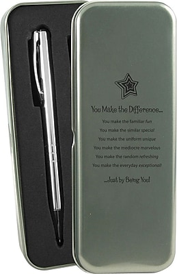You Make the Difference Silver Pen and Pencil Gift Set