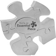 "Baudville® ""Essential Piece"" Silver Puzzle Piece Desktop Award"