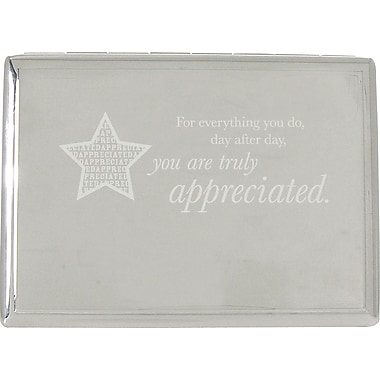You are Truly Appreciated Silver Desktop Perpetual Calendar with Organizer