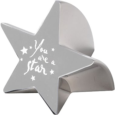 Star Paperweight with Engraved Message, You Are a Star, Silver