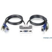 IOGEAR – Commutateur MiniView micro USB PLUS KVM avec audio et câbles (GCS632UW6)