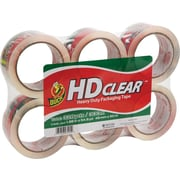 "Duck® Crystal-Clear Packing Tape, 1.88"" x 54.6 yds, 6 Rolls"