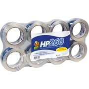 Duck Brand HP260 Packing Tape, Crystal Clear High Performance, 48 mm x 54.8m, 3.1-mil, 8/Pack