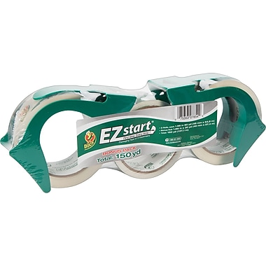 Duck® EZ-Start Crystal Clear Packing Tape with Dispensers, 1.88