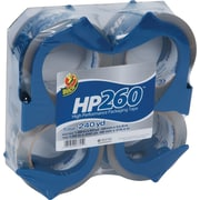 "Duck® HP260 Crystal Clear High Performance Tape with Dispenser 1.88"" x 60 yds , 4 Rolls"
