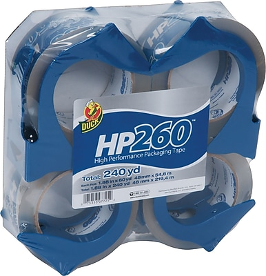 Duck® HP260 Crystal Clear High Performance Tape with Dispenser 1.88
