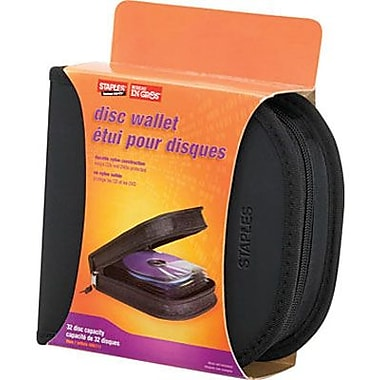 Staples® 32-Capacity CD/DVD Wallet Case