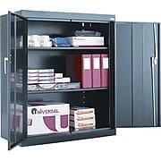 "Alera Assembled Welded Storage Cabinet , 2-Shelf , Black , 42""H x 36""W x 18""D"