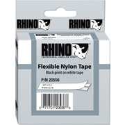 "DYMO Rhino Labeling Tape, Industrial Strength, Nylon, Easy to Peel, Thermal Printing, 3/4""x11-1/2', Black on White"