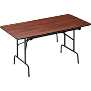 "Staples® Banquet Table with Folding Legs, 60"", Dark Wood"