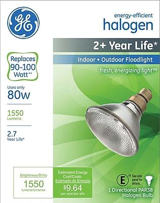 80 Watt GE Halogen Light Bulb