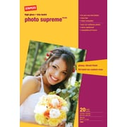 Staples - Papier photo Supreme grand format, lustré, 13 po x 19 po, paq./20