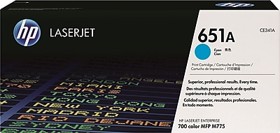 HP 651A Cyan Toner Cartridge (CE341A)